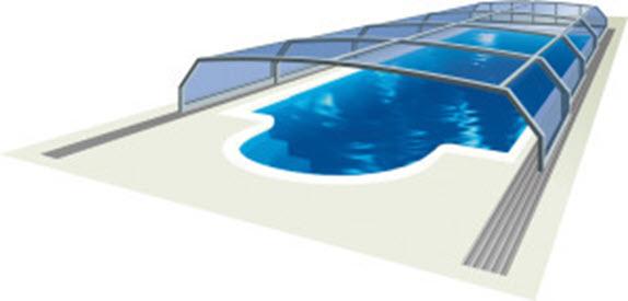 srednje visoka pomična nadkritje za bazen