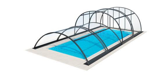 kombinacija različnih modelov bazenskih streh